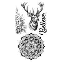 Stamperia:  Cosmos Deer -leimasinsetti
