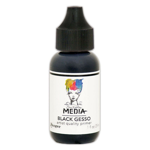Ranger Dina Wakley Media: Black Gesso 29ml
