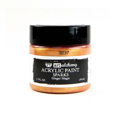 Finnabair Art Alchemy Sparks: Ginger Magic 50 ml -akryylimaali