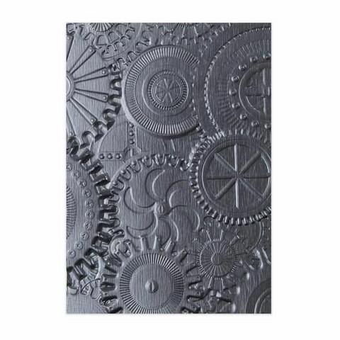 Sizzix 3D Texture Fades: Mechanics  -kohokuviointikansio