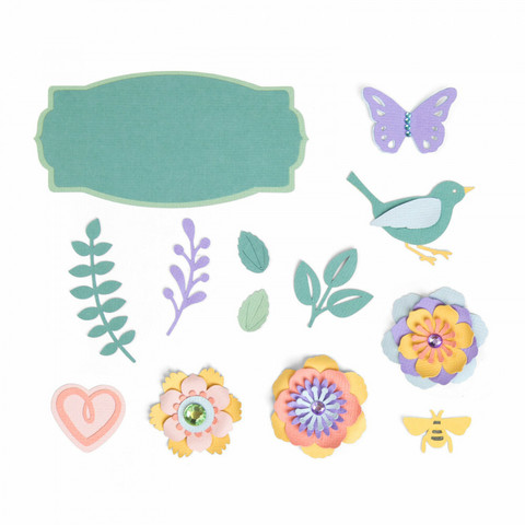 Sizzix Thinlits: Spring Things  -stanssisetti