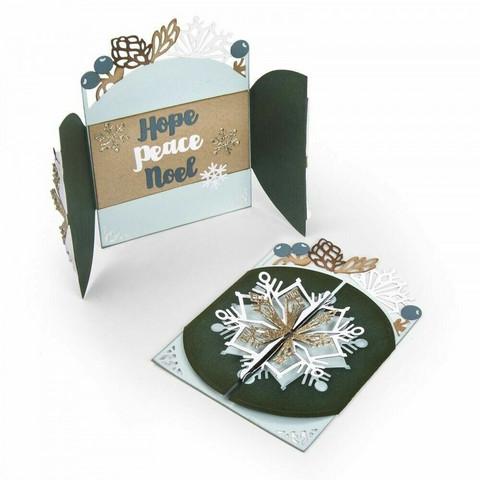 Thinlits Flip & Fold:  Snowflake Card  -stanssisetti
