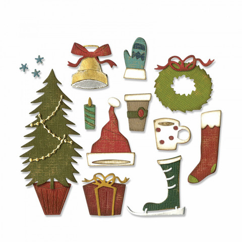 Sizzix Thinlits: Festive Things  -stanssisetti