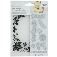 Momenta Dies & Embossing Folder: Merry Christmas -setti