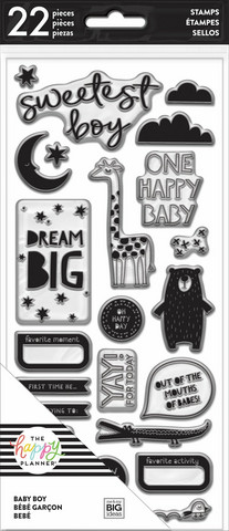 Mambi Happy Planner:  Baby Boy Clear Stamps