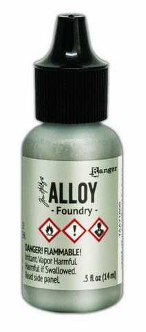 Ranger Tim Holtz Alcohol Ink Alloy 15 ml : Foundry