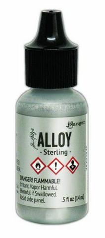 Ranger Tim Holtz Alcohol Ink Alloy 15 ml : Sterling
