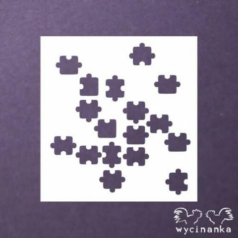 Wycinanka stencil:  Puzzle  -sabluuna