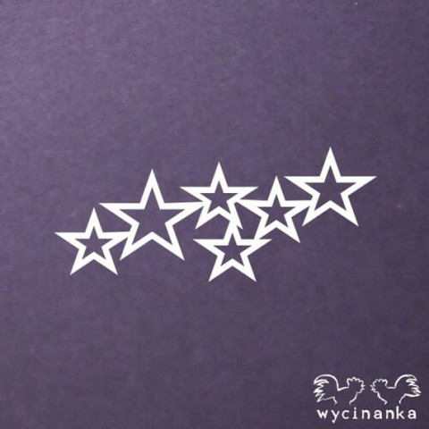Wycinanka stencil:  Stars  -sabluuna