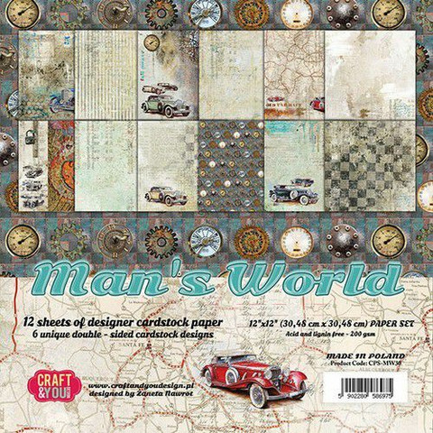 Craft & You Design: Men's  World 12x12 - paperikokoelma
