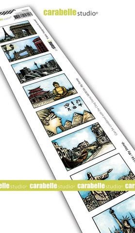 Carabelle Studio: Artist Trading Stamp - Voyage Autour Du Monde