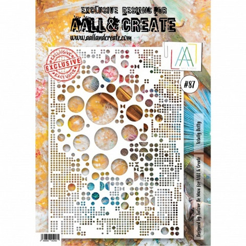 Aall & Create A4 STENCIL: Totally Dotty  #87 - sabluuna