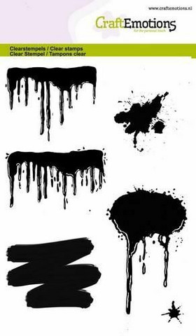 Craft Emotions: Paint Drips & Splashes - kirkas leimasinsetti