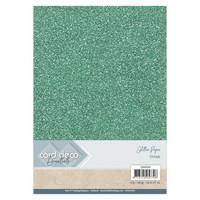 Card Deco Essentials Glitter Paper A4: Ocean - glitterkartonkipakkaus
