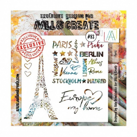 Aall & Create STENCIL  Paris #83 - sabluuna