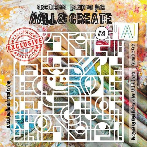 Aall & Create STENCIL Geometric Grid #81 - sabluuna