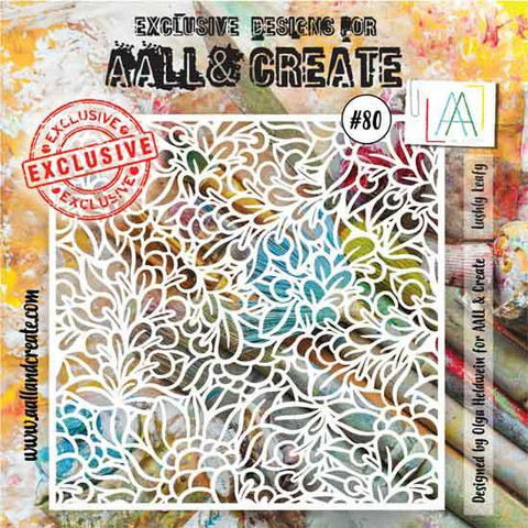 Aall & Create STENCIL Lushly Leafy #80 - sabluuna