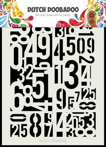 Dutch Doobadoo: Numbers A5 -sabluuna
