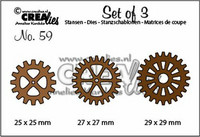 Crealies Set of 3 Dies: Gears