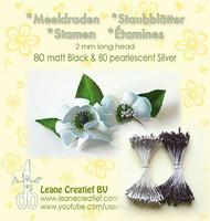 Leane Creatief Heteet  160 kpl -  Mat Black & Pearlesent Silver 2 mm