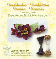 Leane Creatief Heteet  160 kpl -  Pearlecent Black & Antique Gold 2 mm