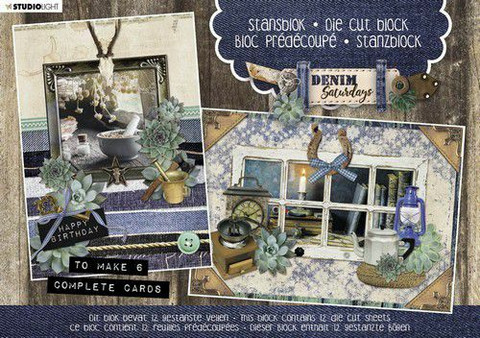 Studio Light: Denim Saturdays A5  - korttikuvalehtiö