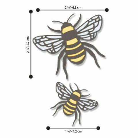 Sizzix Thinlits: Bee  -stanssisetti