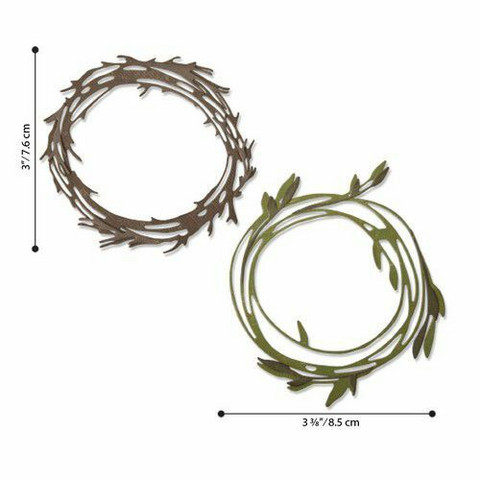 Sizzix Thinlits: Funky Wreaths  -stanssisetti