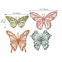Sizzix Thinlits: Scribbly Butterflies  -stanssisetti