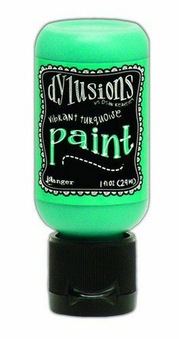 Ranger Dylusions Flip Cap: Vibrant Turquoise 29ml - akryylimaali