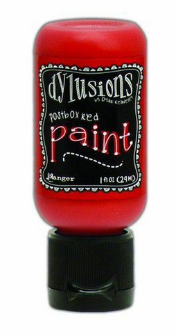 Ranger Dylusions Flip Cap: Postbox Red 29ml - akryylimaali