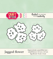 Craft & You: Jagged Flower  -stanssisetti