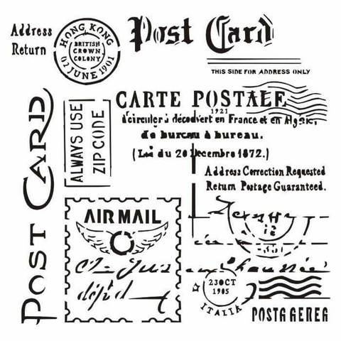 13arts: Carte Postale 6 x 6 -sabluuna