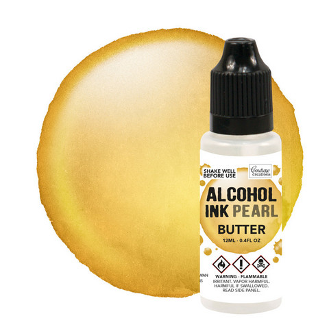 Couture Creations Alcohol Ink Pearl 12 ml :  Butter - alkoholimuste