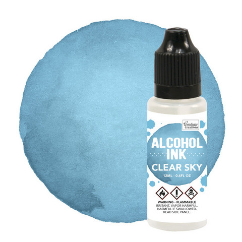 Couture Creations Alcohol Ink 12 ml :  Clear Sky - alkoholimuste