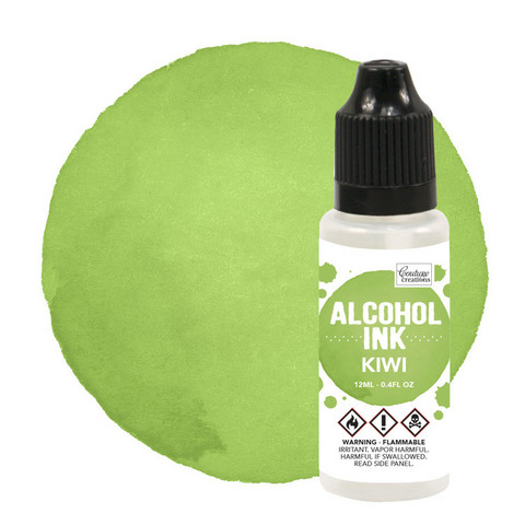 Couture Creations Alcohol Ink 12 ml :  Kiwi - alkoholimuste