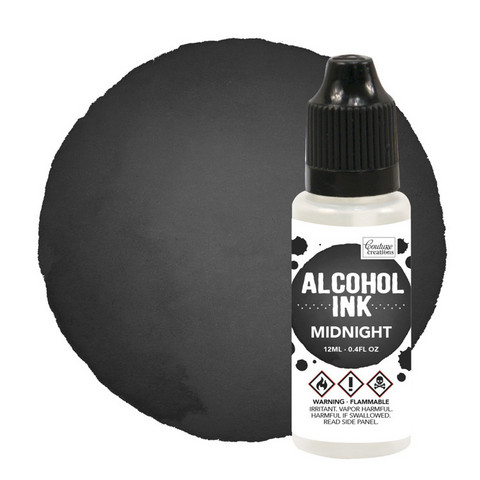 Couture Creations Alcohol Ink 12 ml :  Midnight - alkoholimuste