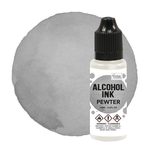 Couture Creations Alcohol Ink 12 ml :  Pewter - alkoholimuste