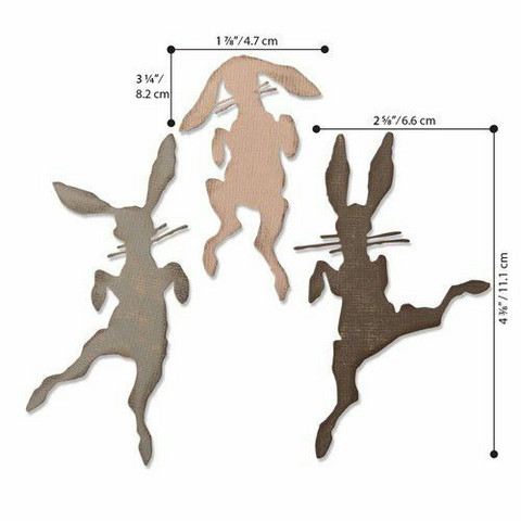 Sizzix Thinlits: Bunny Hop  -stanssisetti