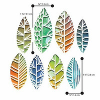 Sizzix Thinlits: Cut Out Leaves  -stanssisetti