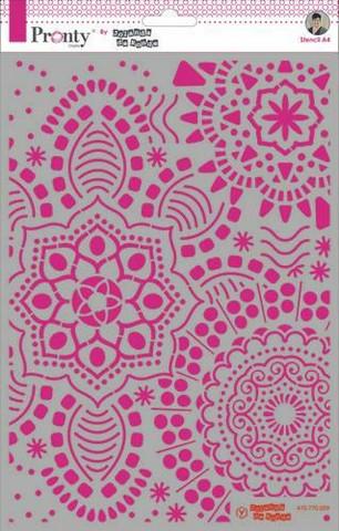 Pronty:  Mandala Background by Jolanda A4 -sabluuna