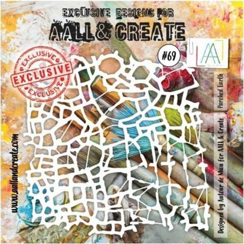 Aall & Create STENCIL Parched Earth  #69 - sabluuna