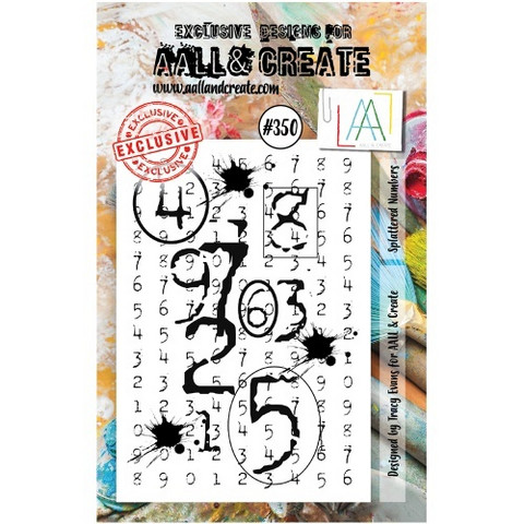 Aall & Create: Splattered Numbers #350 - leimasinsetti