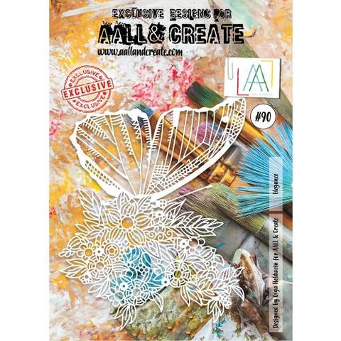 Aall & Create A4 STENCIL: Elegance  #90- sabluuna