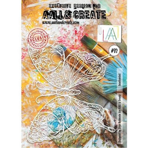 Aall & Create A4 STENCIL: Swallowtail  #92- sabluuna
