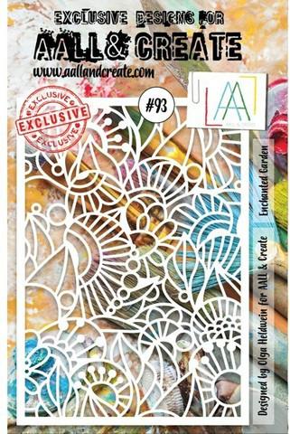 Aall & Create STENCIL  Enchanted Garden  #93 - sabluuna
