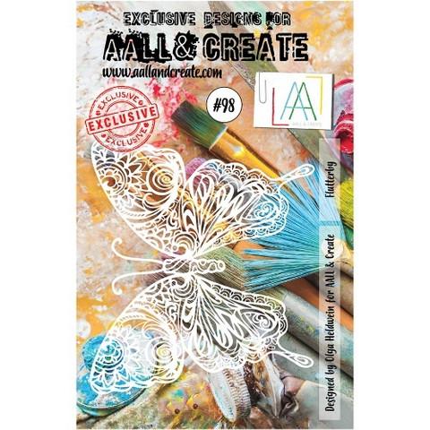 Aall & Create STENCIL  Flutterby  #98 - sabluuna
