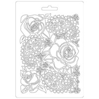 Stamperia Soft Mold A5: Roses