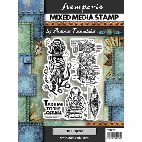 Stamperia: Octopus -leimasinsetti
