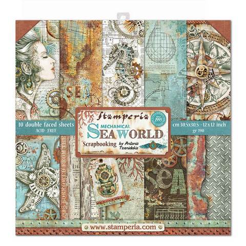 Stamperia: Mechanical Sea World 12 x 12 paperikokoelma